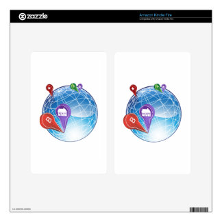 Map Pin Travel Globe Kindle Fire Decal