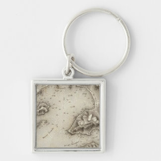 Map Port of Acapulco Keychain