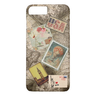 Map Postcard Stamp Phone Case