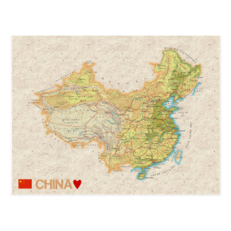 MAP POSTCARDS ♥ China