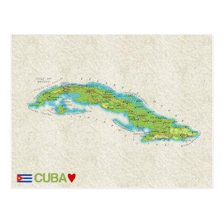 MAP POSTCARDS ♥ Cuba