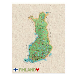 MAP POSTCARDS ♥ Finland