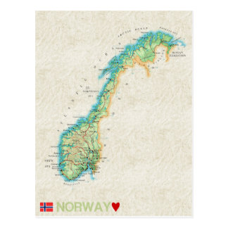 MAP POSTCARDS ♥ Norway