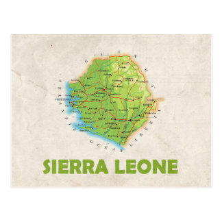 MAP POSTCARDS ♥ Sierra Leone