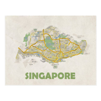 MAP POSTCARDS ♥ Singapore