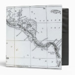 Map Proposed Isthmian Canal Routes Vinyl Binder