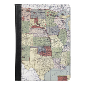 MAP: RESERVATIONS, 1892 iPad AIR CASE