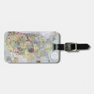 MAP: RESERVATIONS, 1892 TAG FOR LUGGAGE