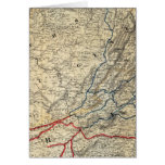 Map Richmond and Louisville RR Greeting Card