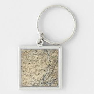 Map Richmond and Louisville RR Key Chain
