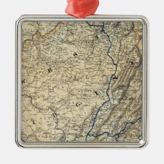 Map Richmond and Louisville RR Ornament