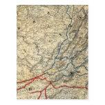 Map Richmond and Louisville RR Postcard