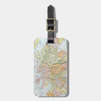 MAP: SCOTLAND LUGGAGE TAG