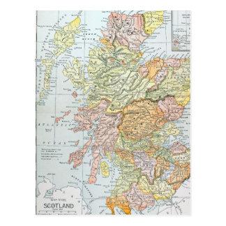 MAP: SCOTLAND POSTCARD