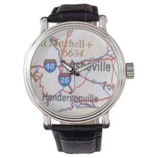 Map showing Asheville and Hendersonville NC Watch