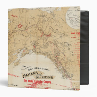 Map Showing Routes from San Francisco to Alaska Binder
