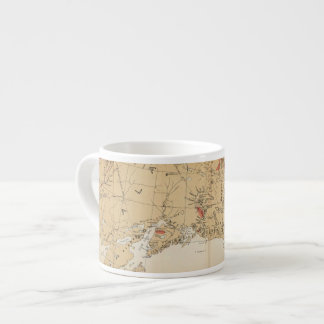 Map Showing Routes from San Francisco to Alaska Espresso Cup