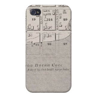 Map showing San Francisco watefront in early days iPhone 4 Cover