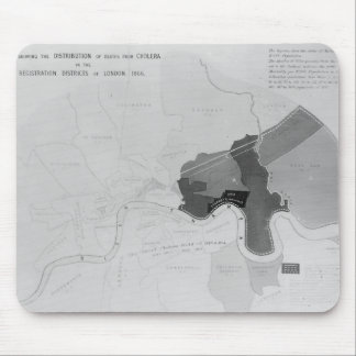 Map showing the Distribution of Deaths Mouse Pad