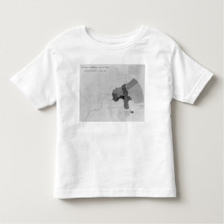 Map showing the Distribution of Deaths Toddler T-shirt