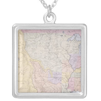 Map showing the localities of the Indian tribes Custom Jewelry