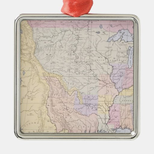 Map showing the localities of the Indian tribes Christmas Tree Ornament