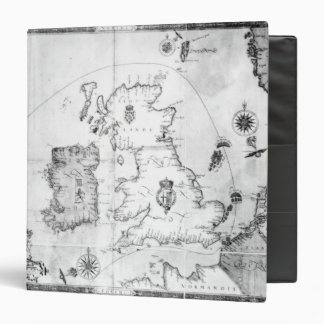 Map showing the route of the Armada fleet 3 Ring Binder
