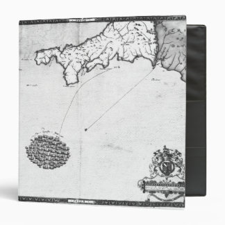 Map showing the route of the Armada fleet Binder