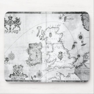 Map showing the route of the Armada fleet Mouse Pad