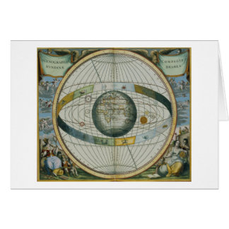 Map Showing Tycho Brahe s System of Planetary Orbi Card