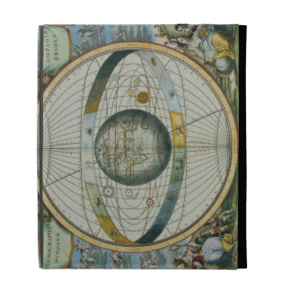 Map Showing Tycho Brahe's System of Planetary Orbi iPad Folio Cases