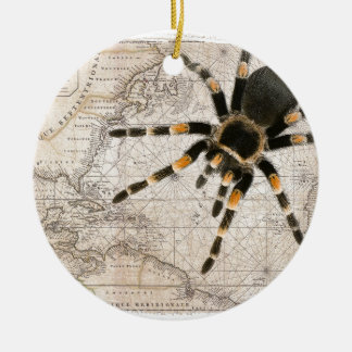 map spider ceramic ornament