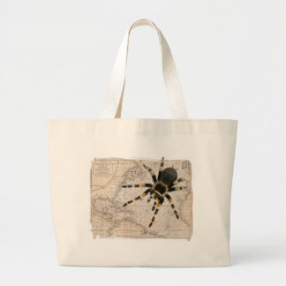 map spider large tote bag