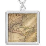 Map Square Pendant Necklace