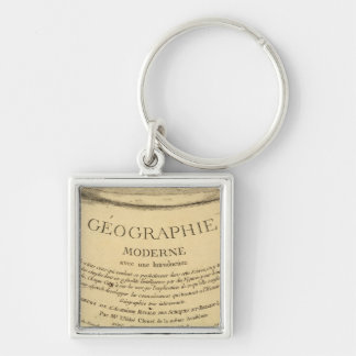 Map Title Page Keychain