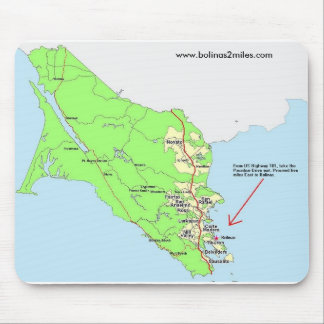 Map to Bolinas Mouse pad
