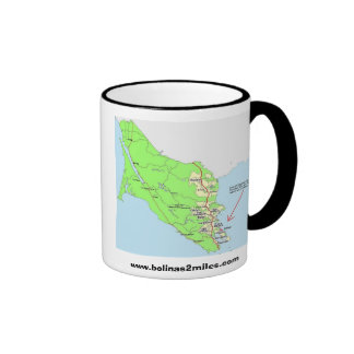 Map to Bolinas Ringer Mug