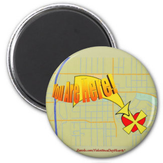 Map to My Heart YOU ARE HERE! 2 Inch Round Magnet