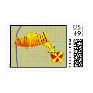 Map to my heart. You are here! Postage Stamps