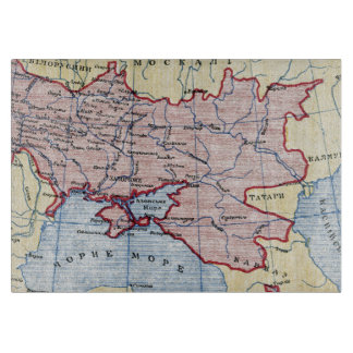 MAP: UKRAINE, c1906 Cutting Board