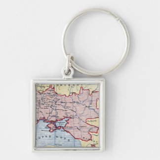MAP: UKRAINE, c1906 Keychain