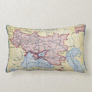 MAP: UKRAINE, c1906 Lumbar Pillow