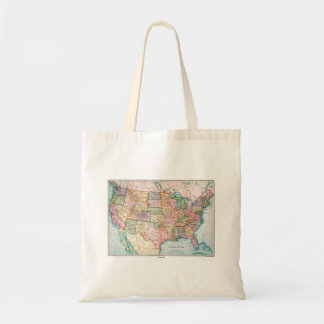 Map: United States, 1905 Budget Tote Bag