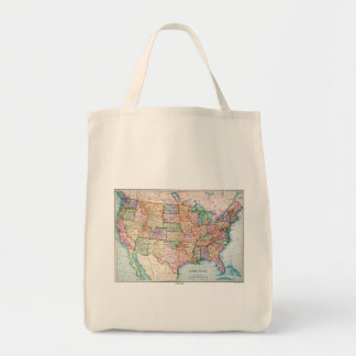 Map: United States, 1905 Grocery Tote Bag