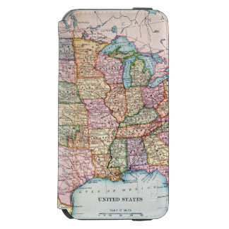 Map: United States, 1905 iPhone 6/6s Wallet Case