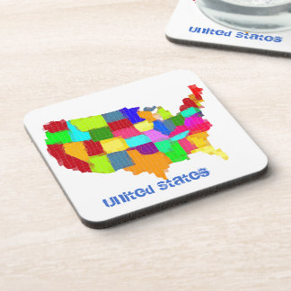 Map - United States Drink Coaster