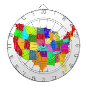 Map - United States Dartboard