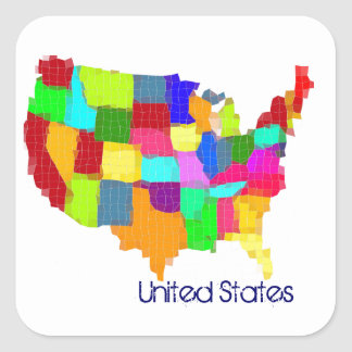 Map - United States Stickers