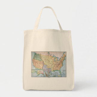 Map: US Expansion, 1905 Grocery Tote Bag