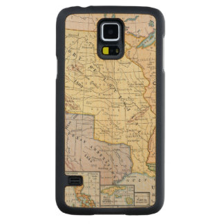 Map: US Expansion, 1905 Carved® Maple Galaxy S5 Case